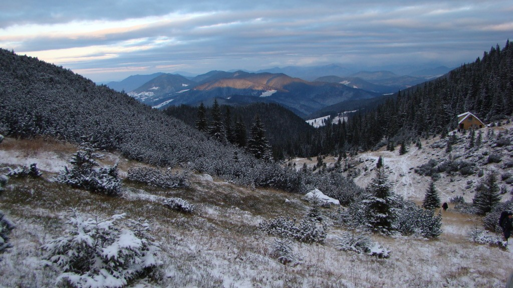 Muntii Bârgaului în lumina diminetii